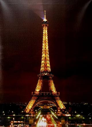 Juliana Home Living Canvas Print With Lights - Eiffel Tower Thumbnail 1