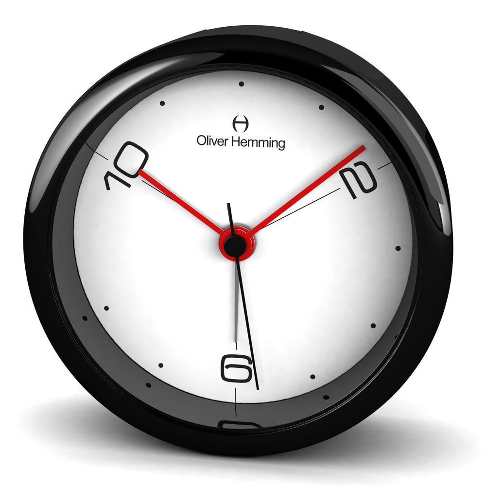 Oliver Hemming Acrylic Contemporary British Design Alarm Clock Glass Lens