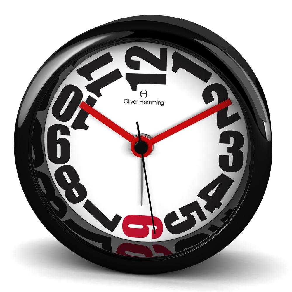 Oliver Hemming Acrylic Contemporary British Design Alarm Clock Cool Design 8Cm