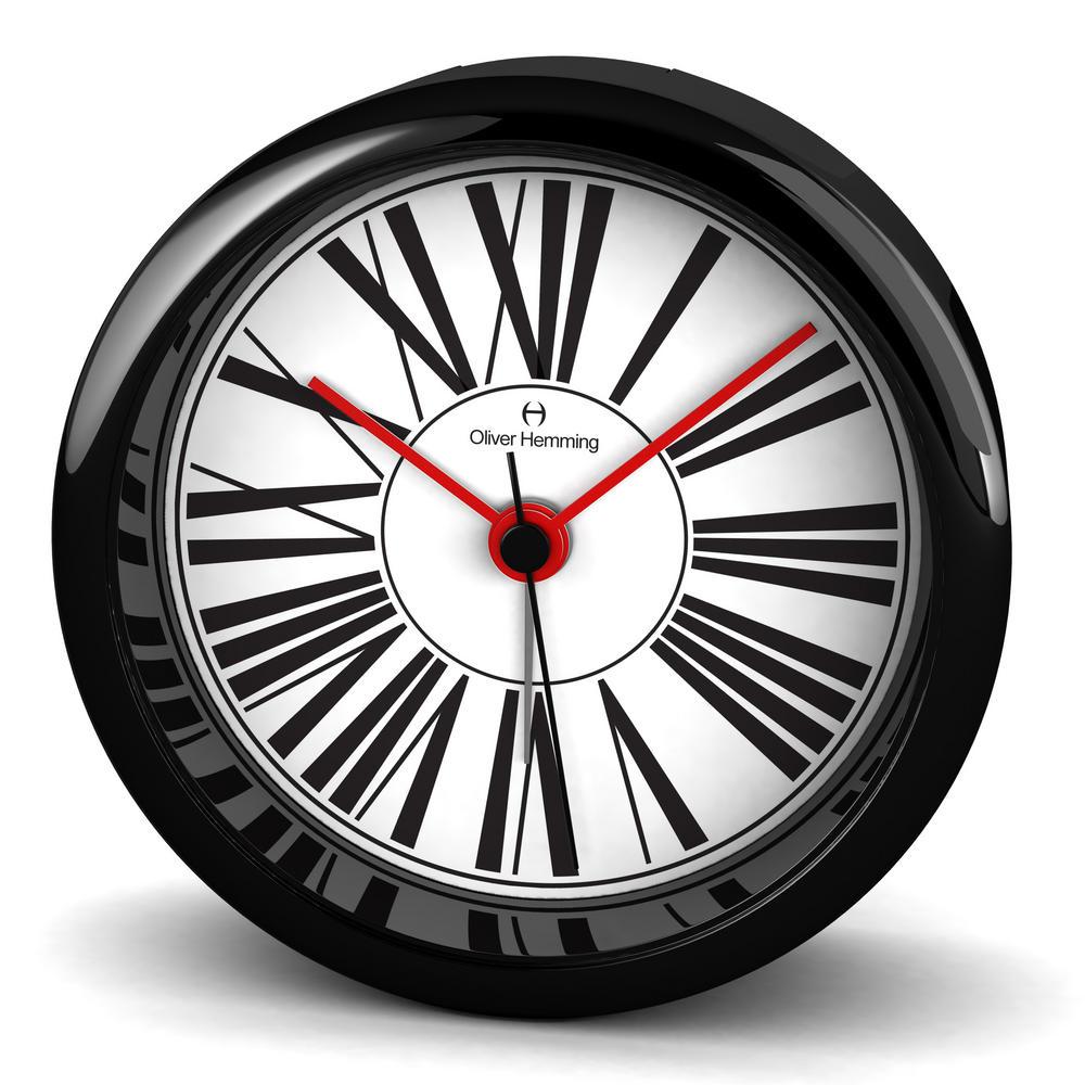 Oliver Hemming Acrylic Contemporary British Design Alarm Clock Glass Lens 8Cm