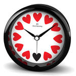 Oliver Hemming Acrylic Contemporary British Design Alarm Clock Black Heart