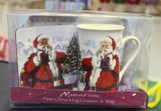 Christmas Father Christmas Santa Fine China Cup Mug Tray Coaster Gift Set Thumbnail 1