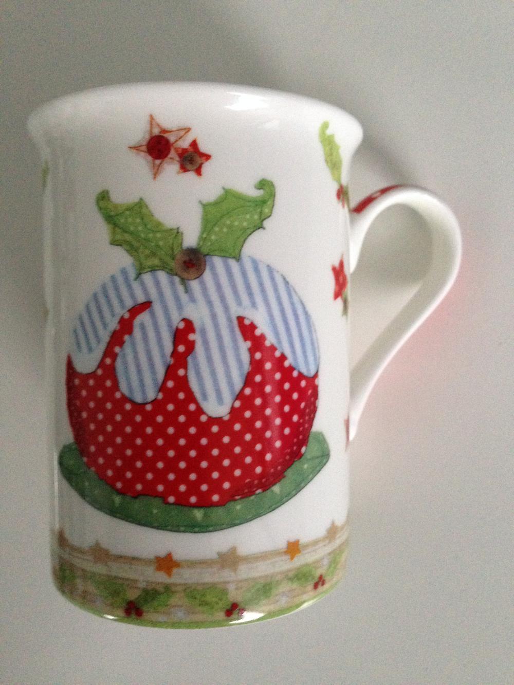 Christmas Pudding Fine China Cup Mug Gift Present