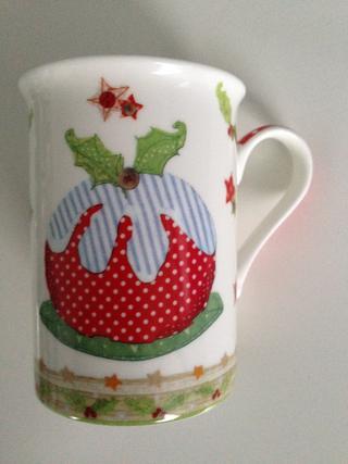 Christmas Pudding Fine China Cup Mug Gift Present Thumbnail 1