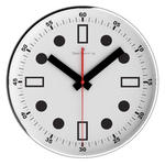 Oliver Hemming Contemporary British Design Chrome Steel 30Cm Wall Clock Quiet