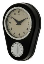 Abcott Kitchen Clock in Black