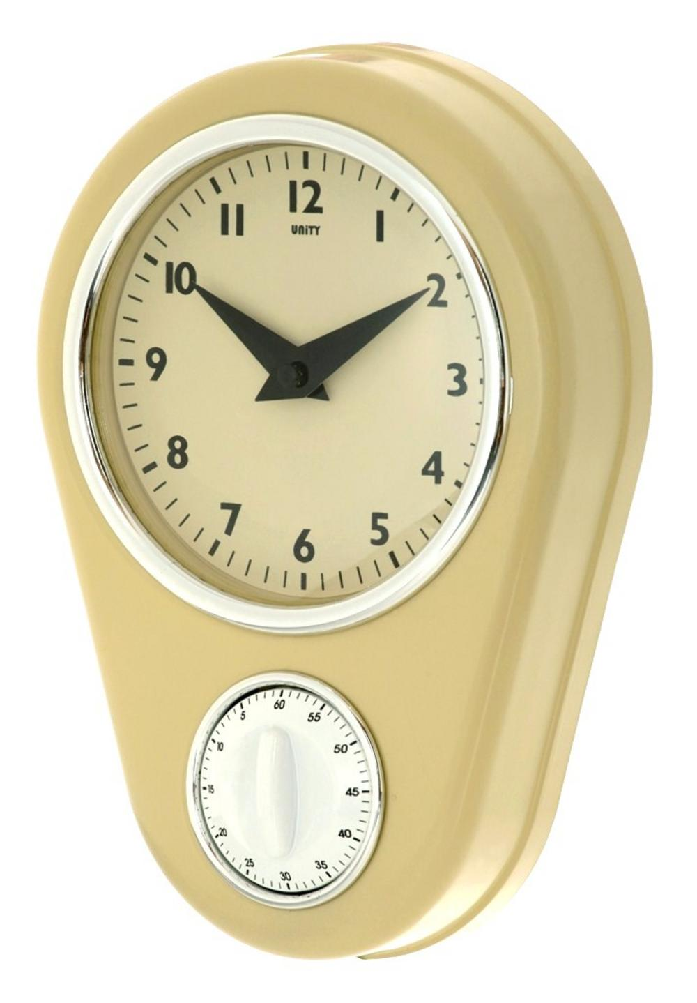 Unity Abcott Kitchen Countdown Timer Wall Clock In Cream