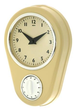 Unity Abcott Kitchen Countdown Timer Wall Clock In Cream Thumbnail 1