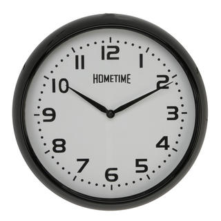 Hometime Wall Clock With Black Case And Arabic Dial 32 Cm Diameter New Thumbnail 1