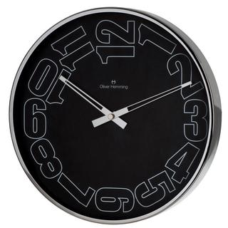 Oliver Hemming Contemporary British Design Chrome Steel 30Cm Wall Clock Thumbnail 1