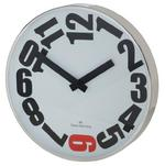 OLIVER HEMMING CONTEMPORARY BRITISH DESIGN CHROME STEEL 30CM WALL CLOCK