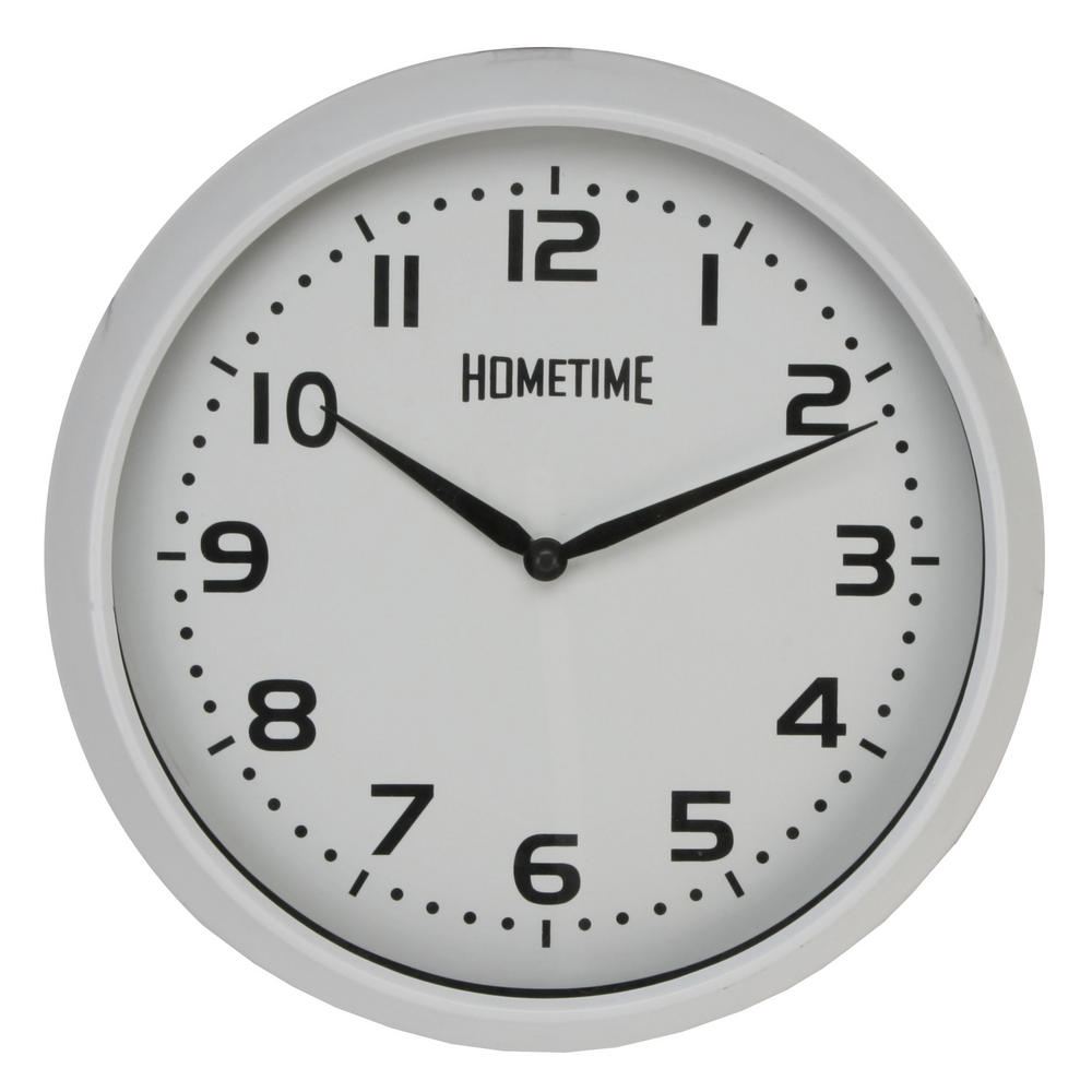 Hometime Wall Clock With White Case And Arabic Dial 32 Cm Diameter Excellent