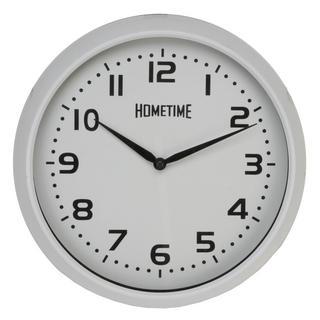 Hometime Wall Clock With White Case And Arabic Dial 32 Cm Diameter Excellent Thumbnail 1