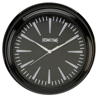 Hometime Wall Clock With Black Case 36 Cms Diameter Excellent Quality Stylish Thumbnail 1