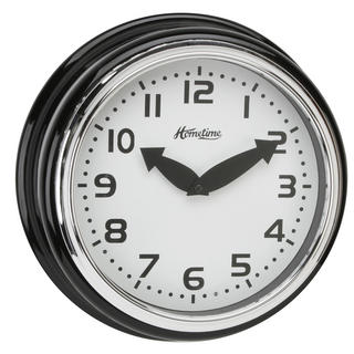Hometime Wall Clock With Black Case With Arabic Dial 30 Cm Diamrter  Stylish New Thumbnail 1
