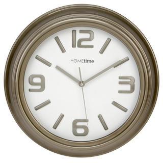 Hometime Wall Clock Grey Shiny Case With Shiny No'S Arabic Dial Case Thumbnail 1