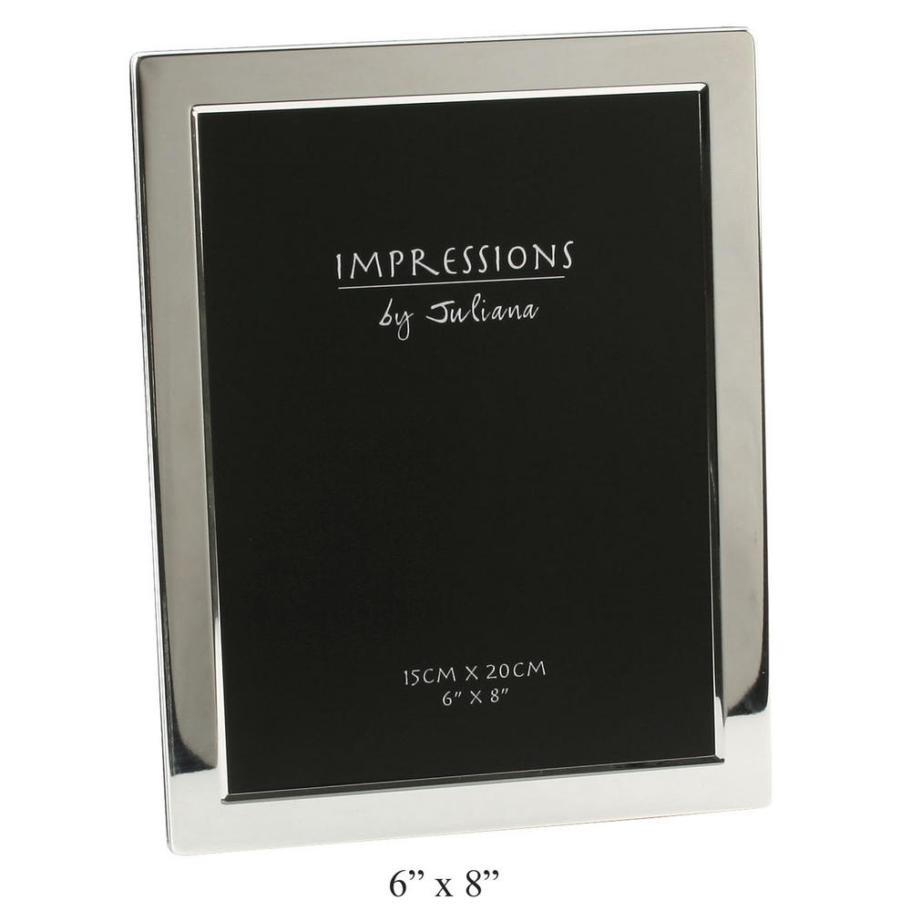 """Juliana Silver Plated Flat Edge Picture Photo Frame - 8"""" X 10"""""""
