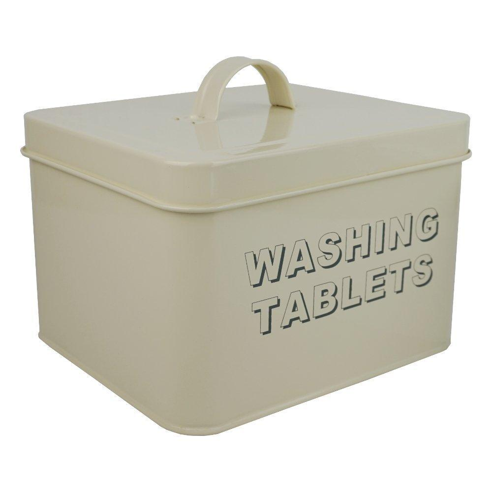 Cream Washing Tablet Storage Tin