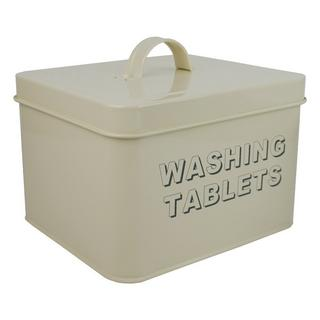 Cream Washing Tablet Storage Tin Thumbnail 1