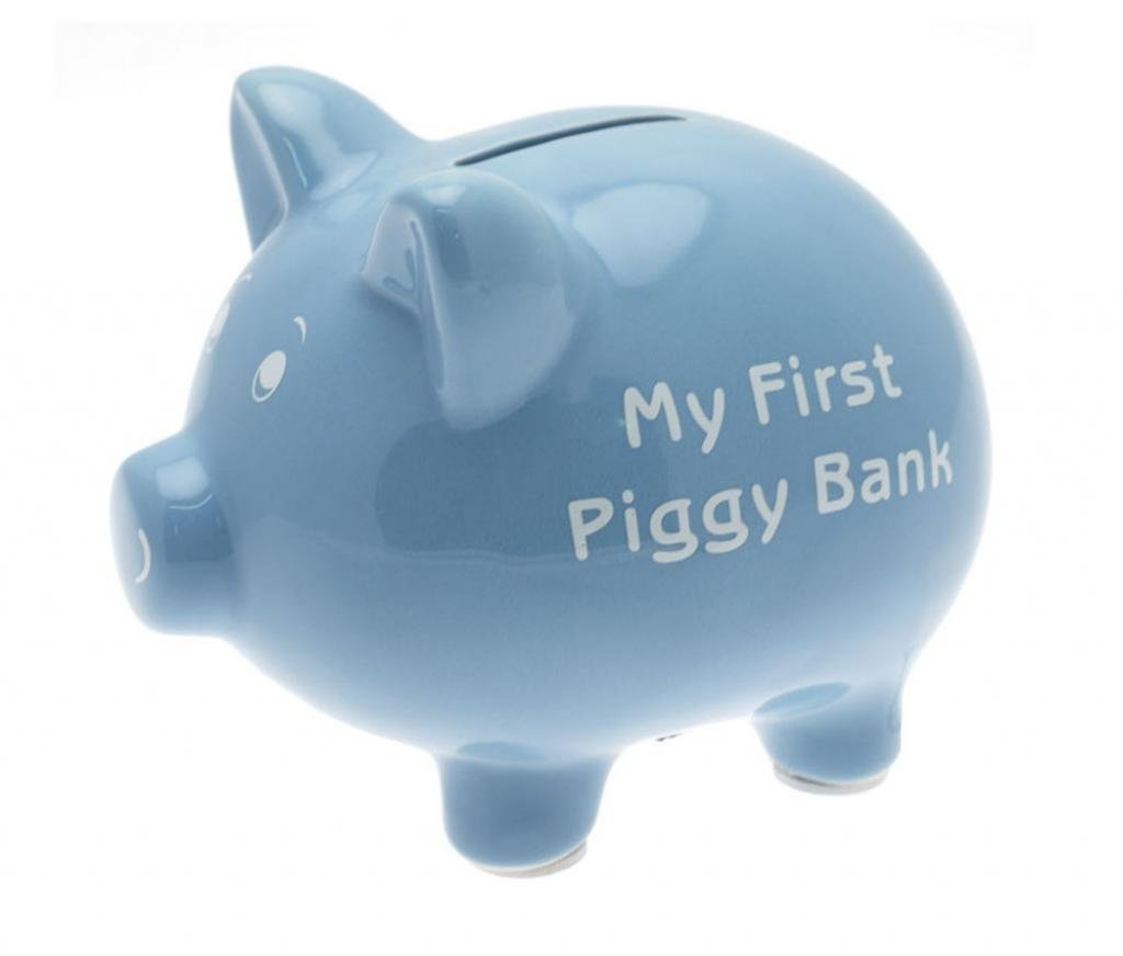 Leonardo my first piggy bank kids boys money box piggy bank in blue ebay - Coin banks for boys ...