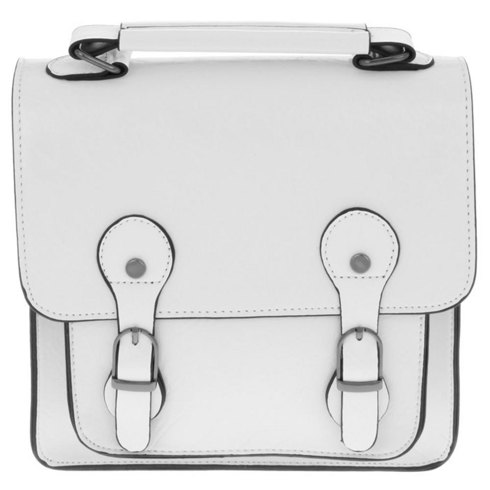 Tall Satchel Handbag In White 22 X 23Cm By Equilibrium