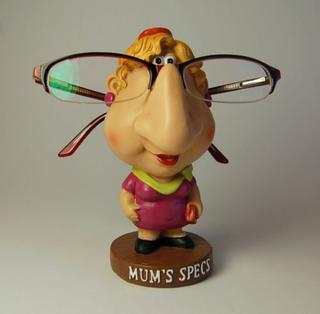"Humourous Spectable Glasses Holder ""Mum'S Specs"" Character Comic Stand Thumbnail 1"