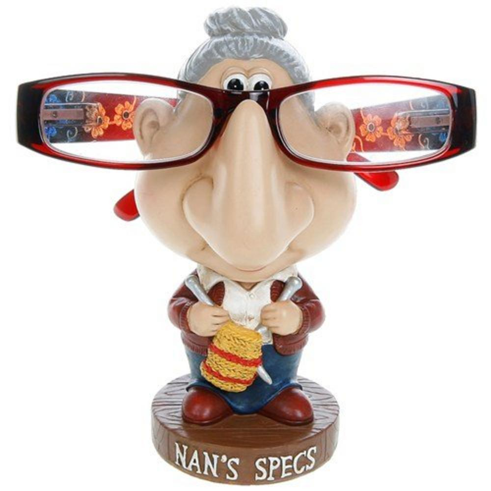 """Humourous Spectable Glasses Holder """"Nan'S Specs"""" Character Comic Stand"""