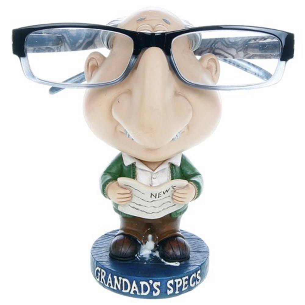 "Humourous Spectable Glasses Holder ""Grandad'S Specs"" Character Comic Stand"