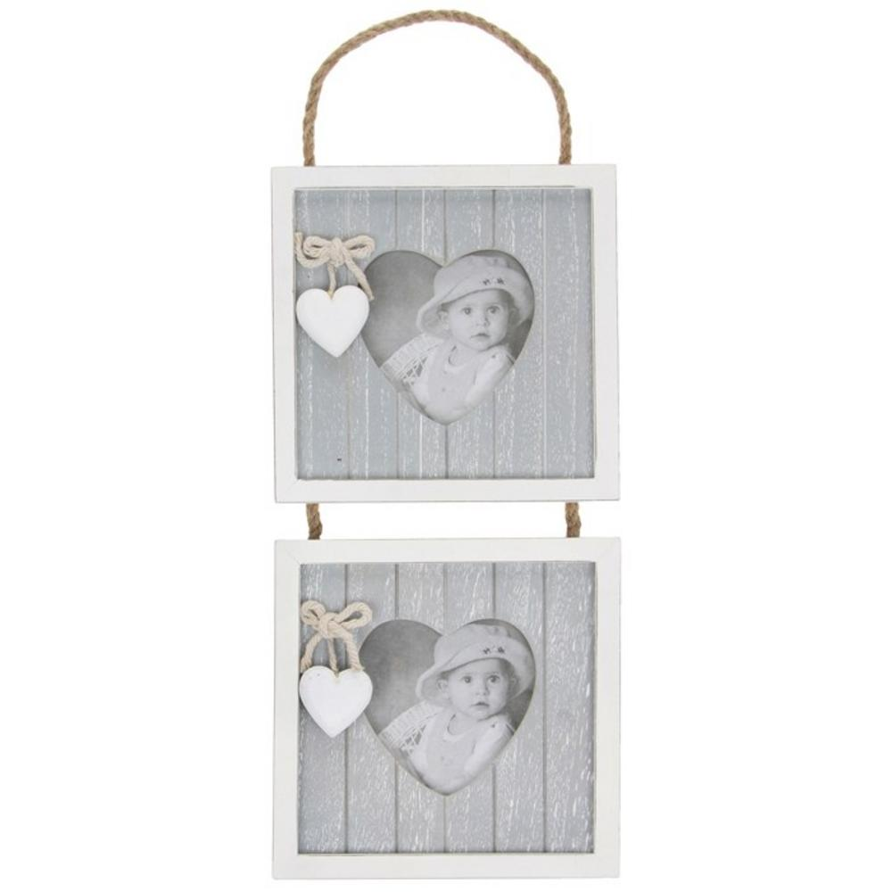 Provence Double Hanging Picture Photo Frame Double Apertutre 3 X 3