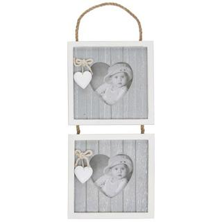 Provence Double Hanging Picture Photo Frame Double Apertutre 3 X 3 Thumbnail 1