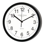 LONDON CLOCK COMPANY CLASSIC BLACK ARABIC DIAL SILENT SWEEP WALL CLOCK