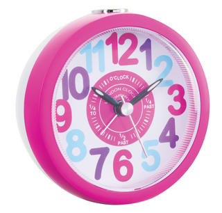 London Clock Company Childrens Kids Tell The Time Bright Sweep Alarm Clock Thumbnail 1