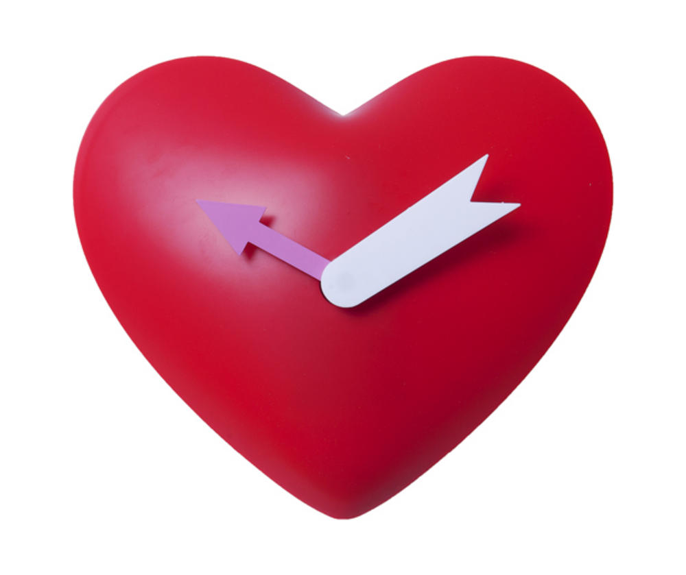 Red Heart Love Contemporary Modern Wall Clock By Silly Gifts