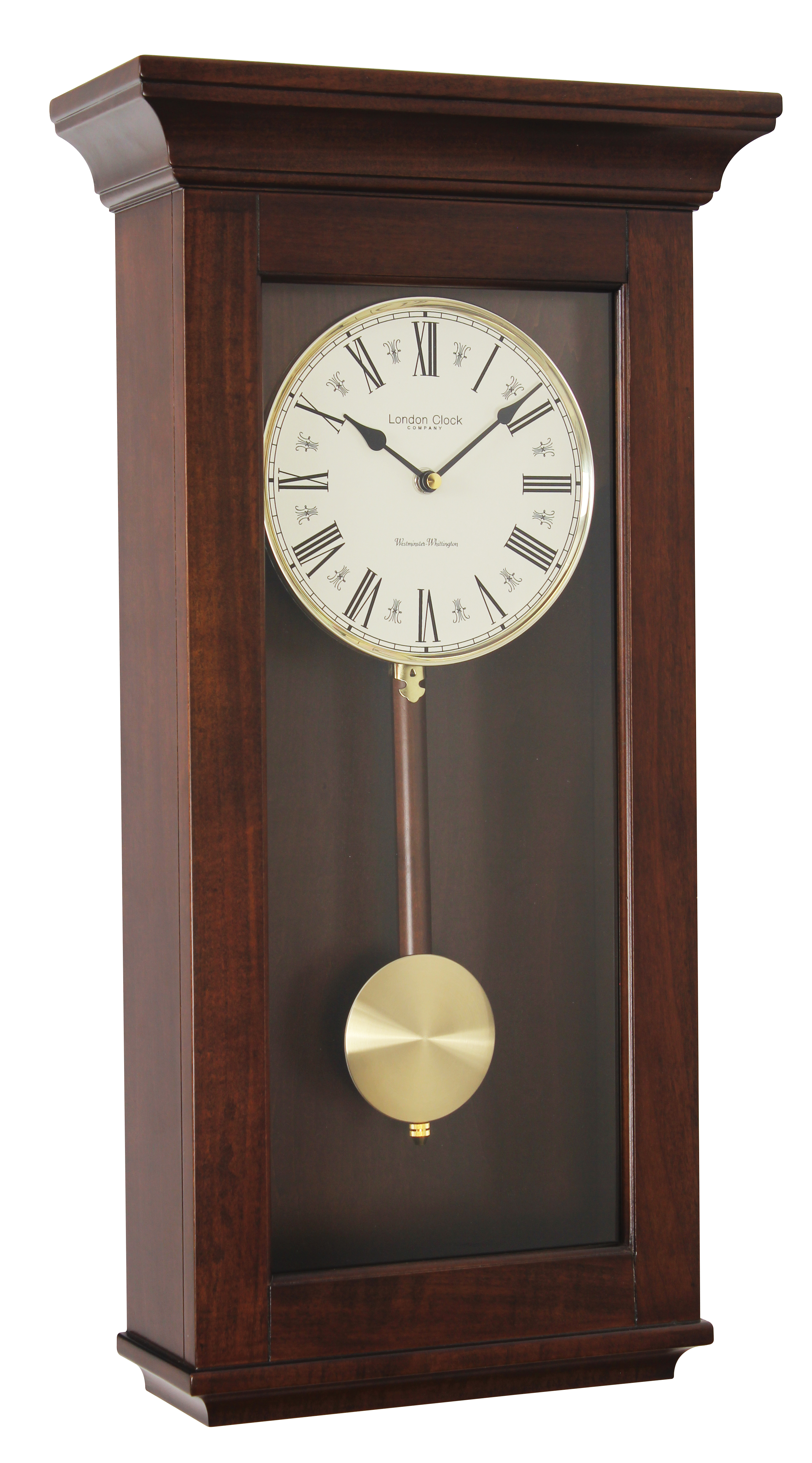 LONDON CLOCK COMPANY MAHOGANY FINISH WESTMINSTER CHIME 4x4 ...