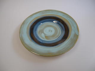 Mini Side Dish Plate Mediterranean Style Green Brown Blue Thumbnail 2
