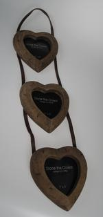 Stone The Crows Triple Hanging Wooden Photo Frames 3X3