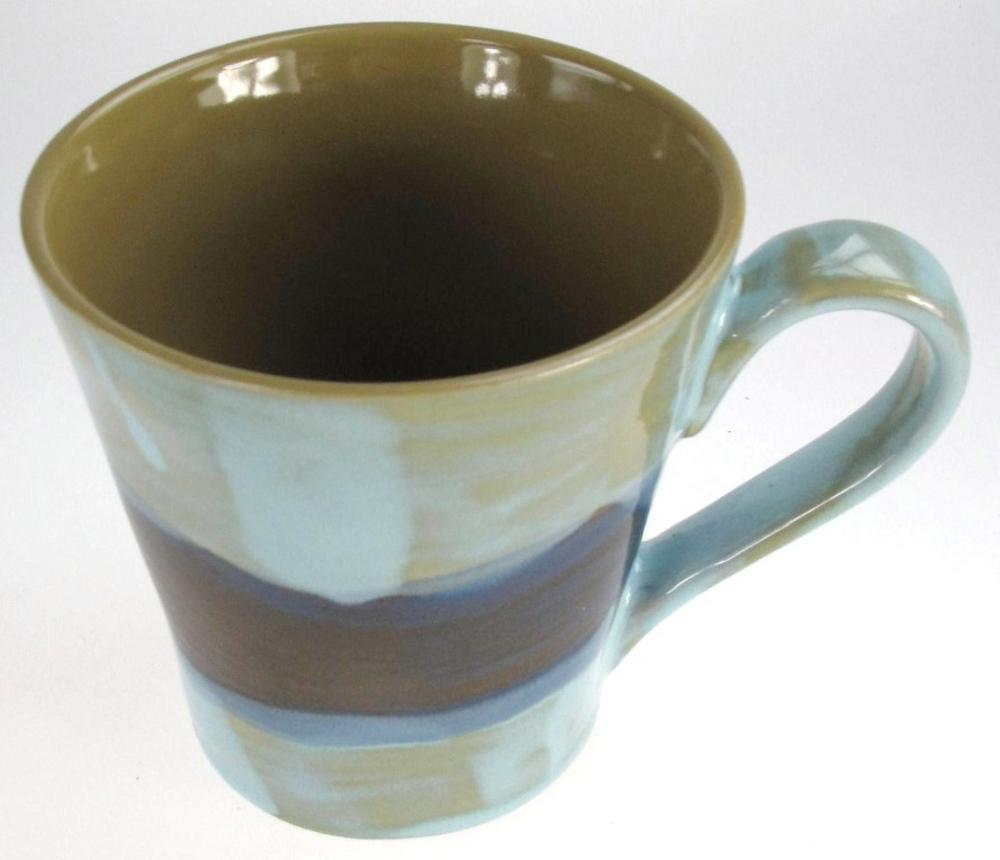 Stone The Crows Small Mediterranean Style Mug Blue Green And Brown Style