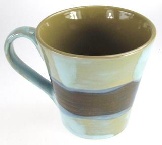 Stone The Crows Small Mediterranean Style Mug Blue Green And Brown Style Thumbnail 3