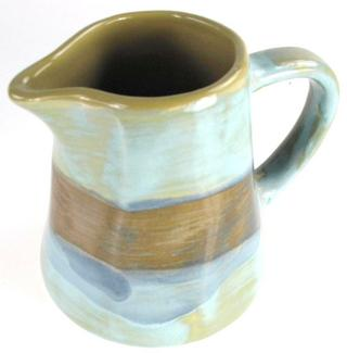 Stone The Crows Meditteranian Cream Jug Blue Green And Browns Thumbnail 1