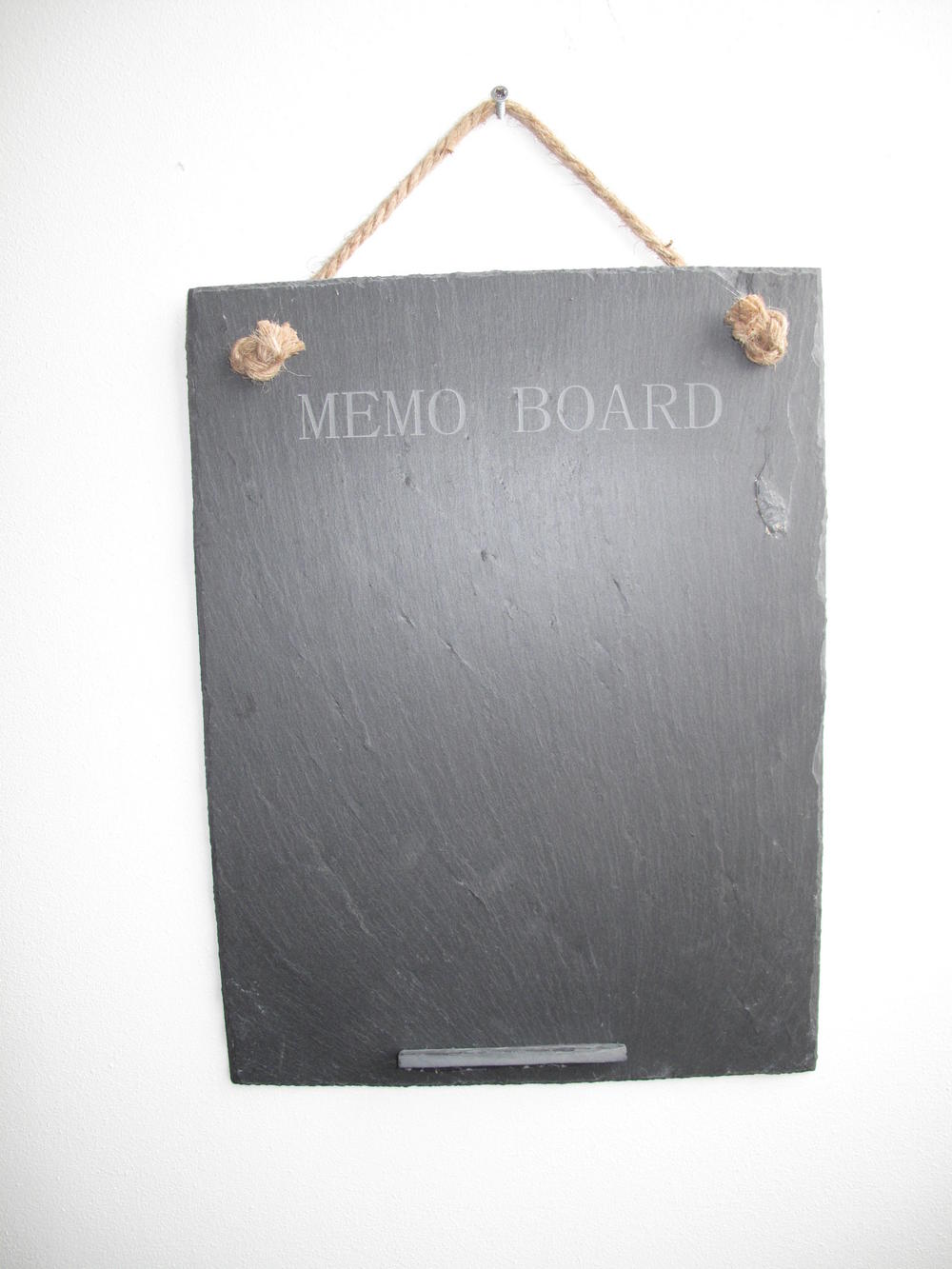 Stone The Crows Large Slate Memo Board With Engraved Words Easy To Clean