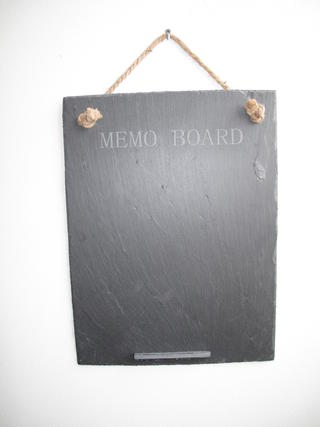 Stone The Crows Large Slate Memo Board With Engraved Words Easy To Clean Thumbnail 1