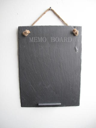Stone The Crows Large Slate Memo Board With Engraved Words Easy To Clean Thumbnail 2