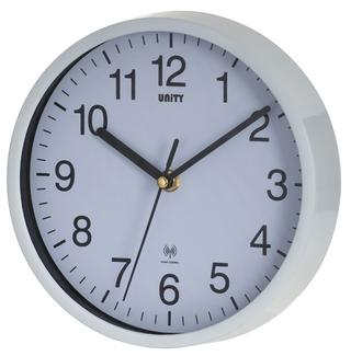 "Unity Radio Controlled Wall Clock White Radcliffe 8"" 20Cm Thumbnail 1"