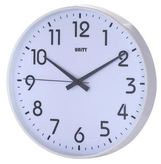 "Unity Fradley Silent Sweep Non-Ticking Wall Clock 12"" 30Cm Thumbnail 1"