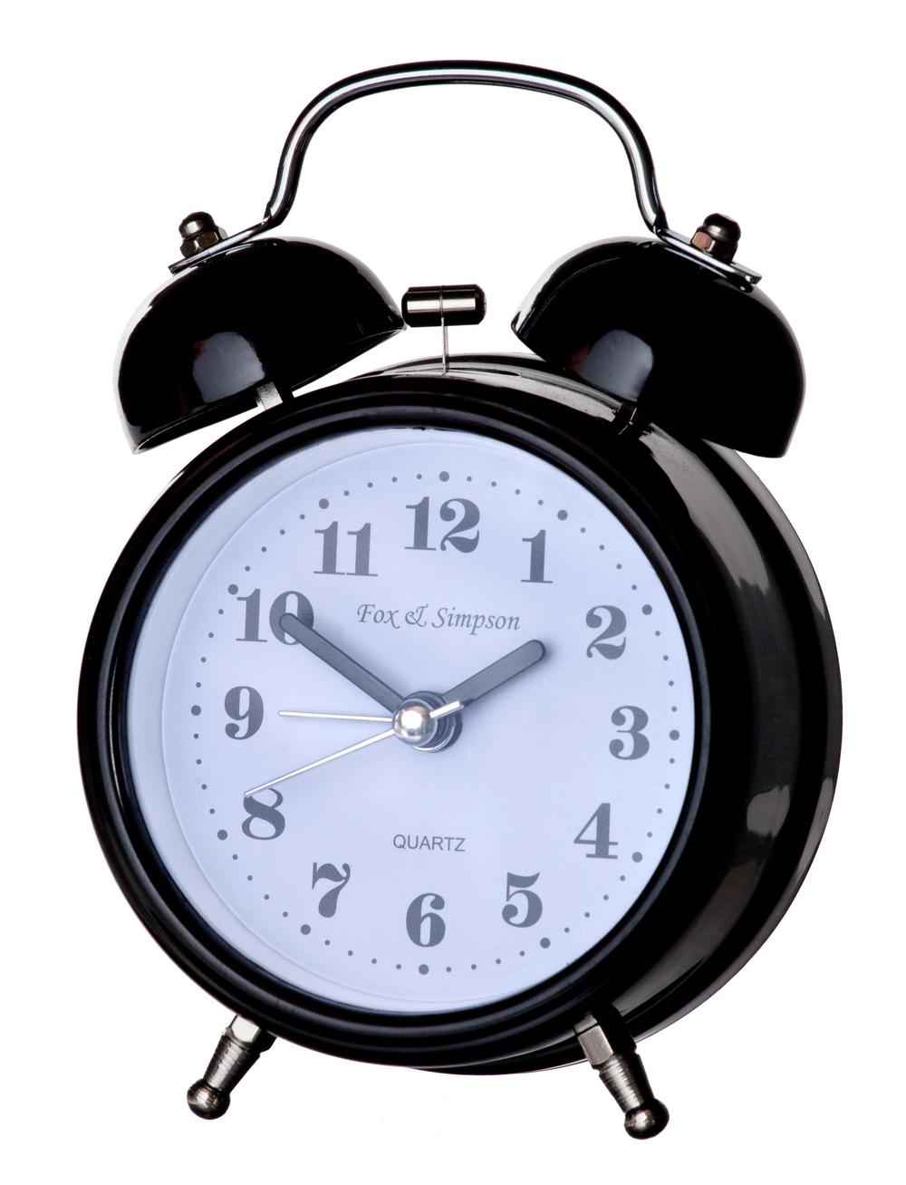 Fox And Simpson Stainless Steel Silent Sweep Kearsley Alarm Clock