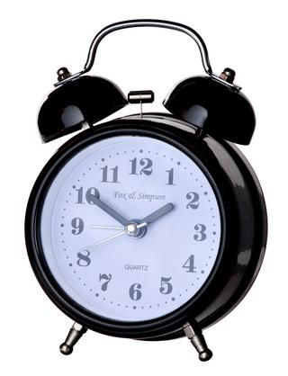 Fox And Simpson Stainless Steel Silent Sweep Kearsley Alarm Clock Thumbnail 1
