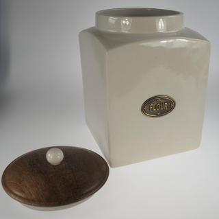 Stone The Crows Large Flour Cannister With Recovered Wood Air Tight Lid Thumbnail 2