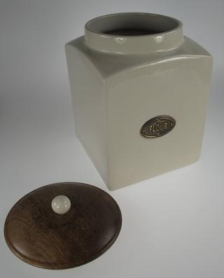 Stone The Crows Large Flour Cannister With Recovered Wood Air Tight Lid Thumbnail 3