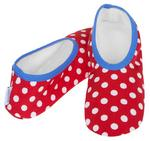 Skinnies By Snoozies Ladies Womens Slippers Small Size 3 To 4 - Red & White