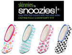 Skinnies By Snoozies Ladies Womens Slippers Large Size 6 To 7 - Various Colours